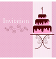 Invitation card with cake vector image vector image