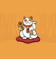 maneki neko talisman cat beckoning wealth vector image vector image