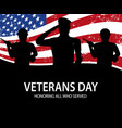 memorial day soldiers on background of american vector image vector image