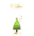 merry christmas background minimal decorative vector image