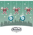 merry christmas cute card vector image