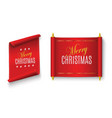 merry christmas scroll vector image vector image
