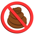 No pooping sign vector image