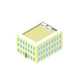 office building 3d isometric icon vector image