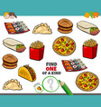 One a kind game for kids with food objetcs