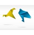 Origami japan paper flying bird vector image vector image