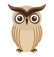 owl bird cute icon vector image vector image