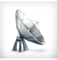 Parabolic antenna icon vector image
