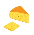 Piece of cheese icon in isometric Flat 3d style vector image