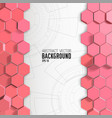 pink hexagons background with engineering drawings
