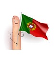 portugal flag waving vector image vector image