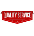 quality service banner design vector image vector image