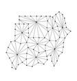republic of sudan map of polygonal mosaic lines vector image vector image