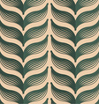 Retro fold deep green striped leaves vector image vector image