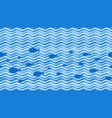 sea waves curve wave pattern water streaks and vector image vector image