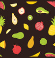 seamless pattern with organic ripe juicy tropical vector image