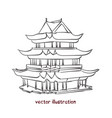 sketch chinese pagoda vector image