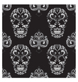 Skull and Spades Ornamental Pattern vector image vector image