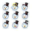 smileys snowman vector image