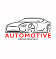 sports car logo label silhouette vector image vector image