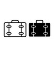 suitcase line and glyph icon luggage with boat vector image