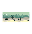 summer landscape at night time summer scenery vector image vector image