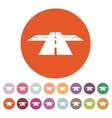 The crossroads icon Crossway and crossing vector image vector image