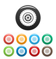 tyre icons set color vector image vector image