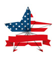 united states america emblem with star shape vector image vector image