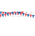 usa flags banner triangle american vector image