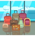Vacation travelling concept with travel bags vector image vector image