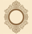 Vintage Floral Circle Ornament vector image vector image
