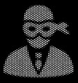 white pixel masked thief icon vector image