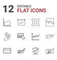 12 profit icons vector image vector image