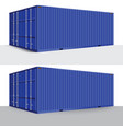 3d perspective blue cargo container shipping vector image vector image