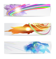 Abstract trendy banner or header set vector image