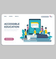 accessible education website online learning vector image vector image