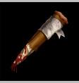 aspen stake wooden stick against vampires vector image vector image