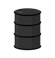 Barrel of oil on a white background Black steel vector image