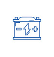 battery line icon concept battery flat vector image vector image