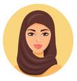 beautiful young happy muslim woman in hijab vector image vector image