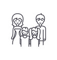 big family line icon concept big family vector image vector image