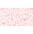 bubble gum seamless pattern with flat line icons vector image vector image