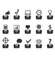 business people idea icons set vector image vector image