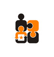 business teamwork success vector image