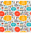 cafe seamless pattern with doodle coffee tea vector image vector image