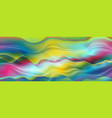 colorful liquid abstract smooth waves background vector image vector image