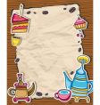 cute coffee frame vector image