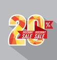 Discount 20 Percent Off vector image vector image