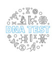 dna test round in outline vector image vector image
